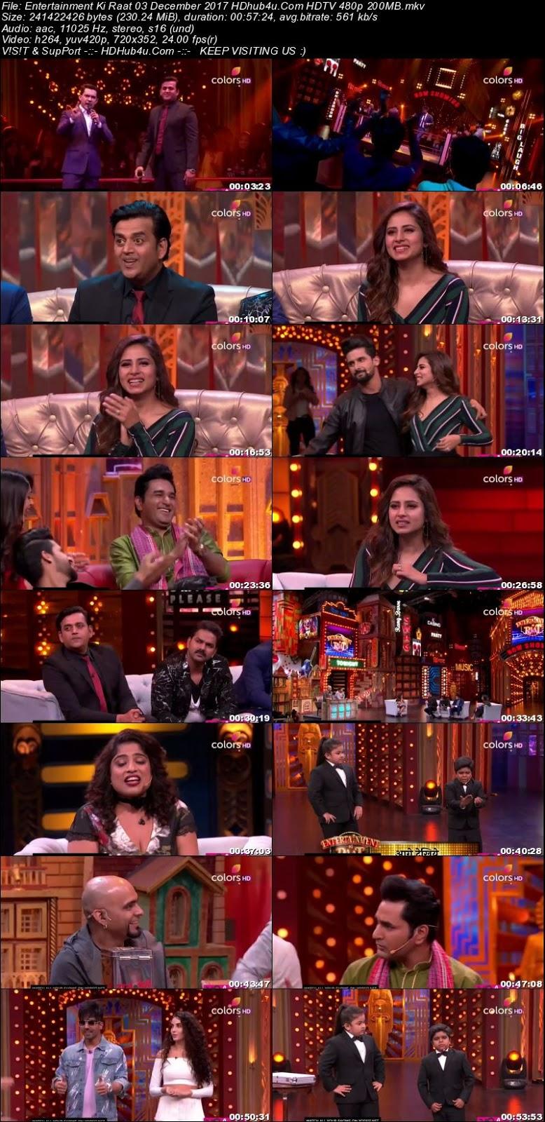 Entertainment Ki Raat 03 December 2017 480p HDTV 200MB Download