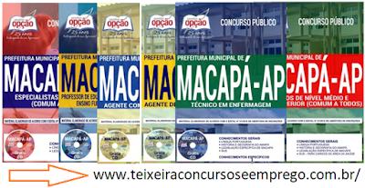Apostilas Prefeitura Municipal de Macapá para concursos 2018
