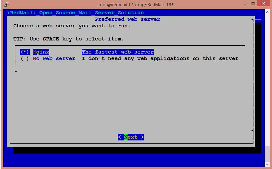 Install iRedMail Server on CentOS 7