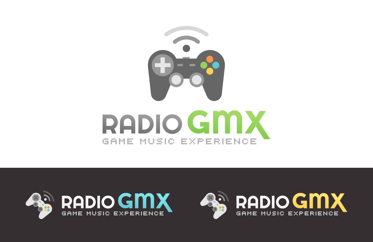 Création logo Radio GMX, webradio jeux vidéo
