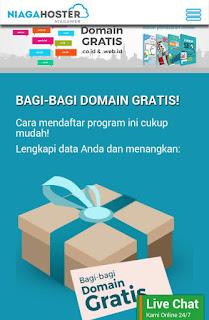 Cara Mendapatkan Domain Gratis Dari Niagahoster.