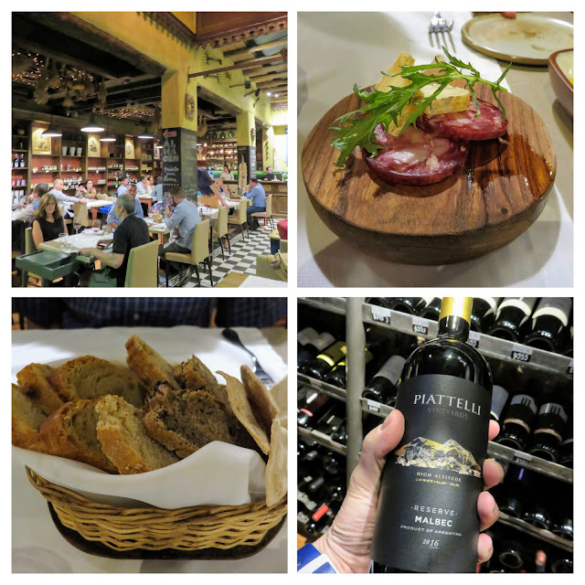 Fun things to do in Mendoza Argentina: Eat dinner at Azafran (collage)