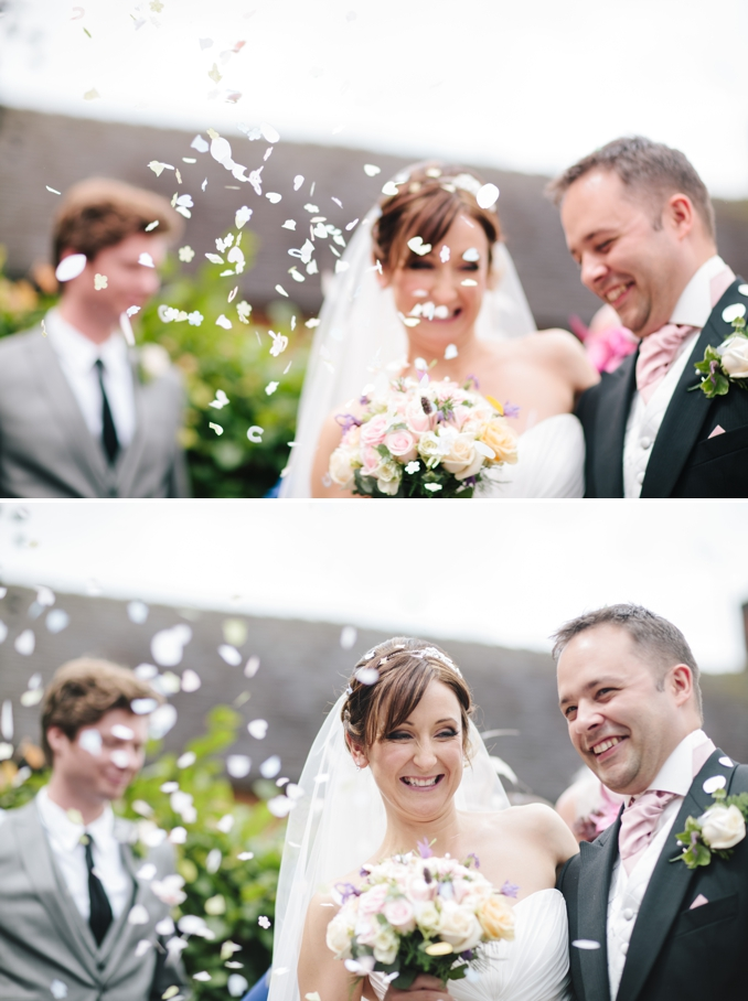 Gorgeous wedding confetti shot by STUDIO 1208
