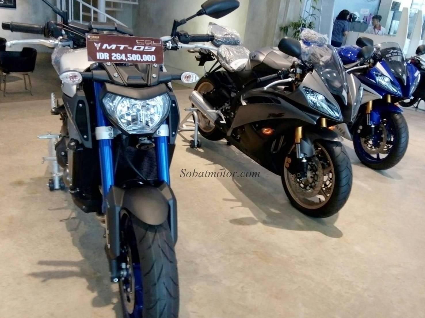 Ini dia harga Moge Yamaha YZF R6 dan MT-09 di kota Medan . .