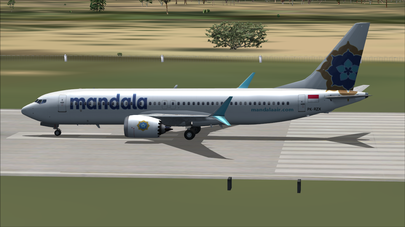 Mandala Airlines Boeing 737 MAX 8 | Sceurdia Airlines