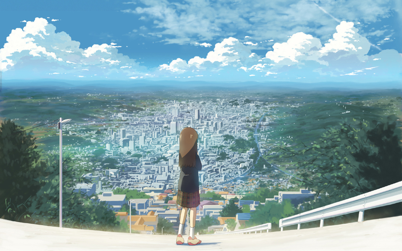 City wallpapers desktop wallpapers - Anime scenery wallpaper laptop ...