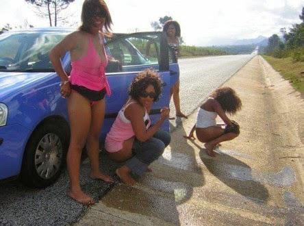 skinny girls peeing