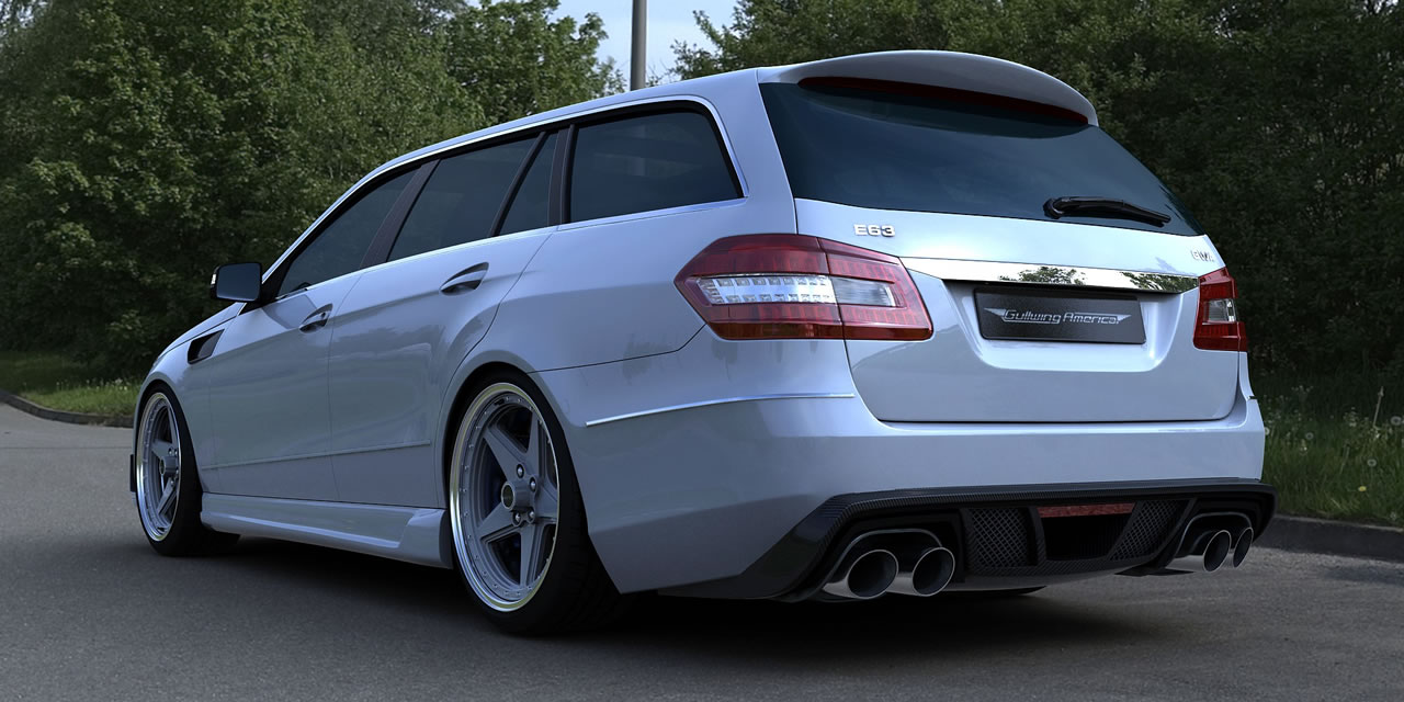 Mercedes benz e63 amg wagon tuned by gwa tuning w212 for Mercedes benz e500 station wagon