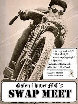 Upcoming events                              Galen I Huvet Swap Meet 1/2-2014
