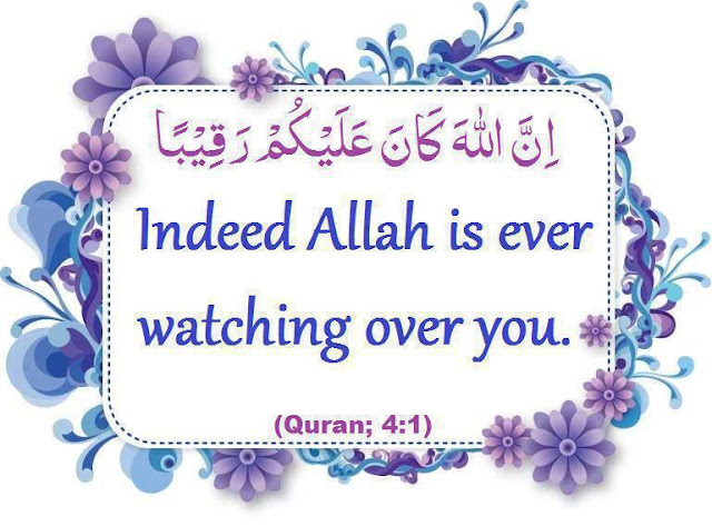 Indeed Allah is ever watching over you