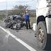 Acidente envolvendo três veículos na BR-116 Norte, em Feira de Santana
