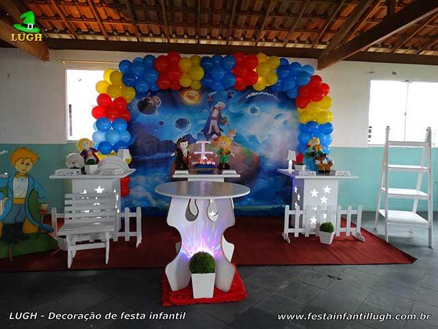 Decoração tema Pequeno Príncipe para festa de aniversário infantil - Mesa temática provençal