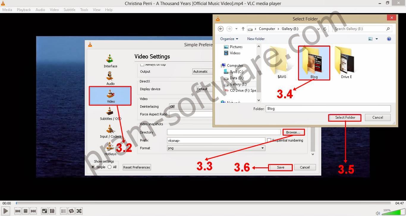 Mengatur Video Setting dan Lokasi Penyimpanan