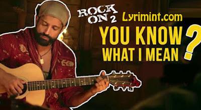 You Know What I Mean Lyrics – Rock ON 2   Farhan Akhtar