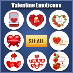 Valentine stickers for Facebook