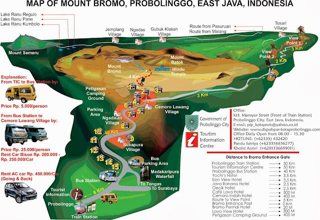 Rute dan Jalur menuju Gunung Bromo dari Probolinggo