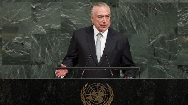 Continúa la retórica antichavista de Temer desde Naciones Unidas