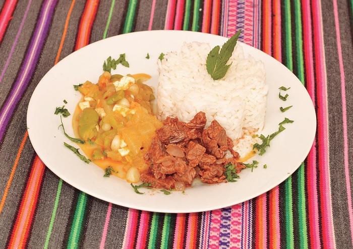 Ajiaco de Calabaza con Guiso de Carne