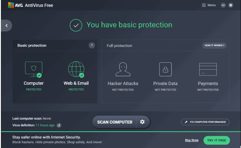 تحميل برنامج AVG AntiVirus Free 2018 الحماية من الفيروسات