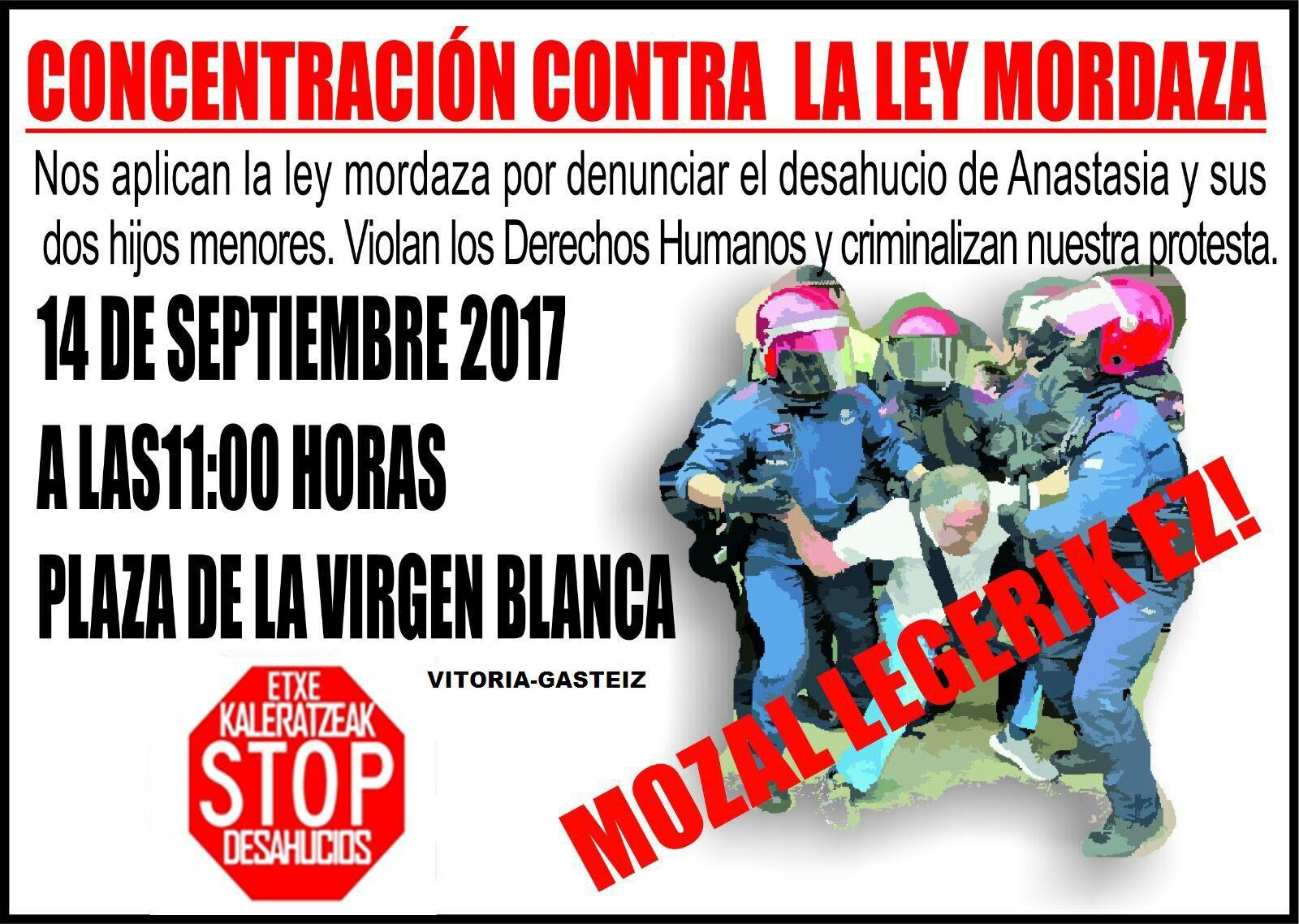 KaleratzeakStopDesahuciosAraba: CONCENTRACIÓN CONTRA LA LEY