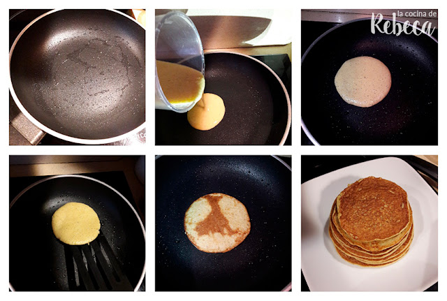 Receta de tortitas de avena y plátano: el cocinado