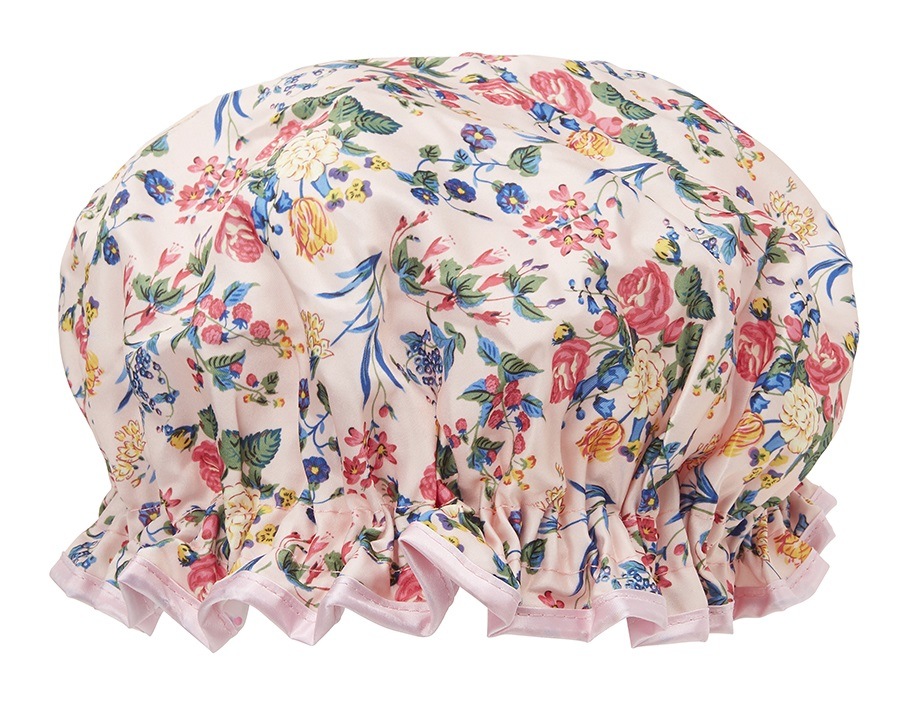 Save your blow dry with this cap. The Vintage Cosmetic Company Vintage  Design Floral Shower Cap has waterproof lining, an elasticiszed opening to  keep hair ... 83fac5051bd