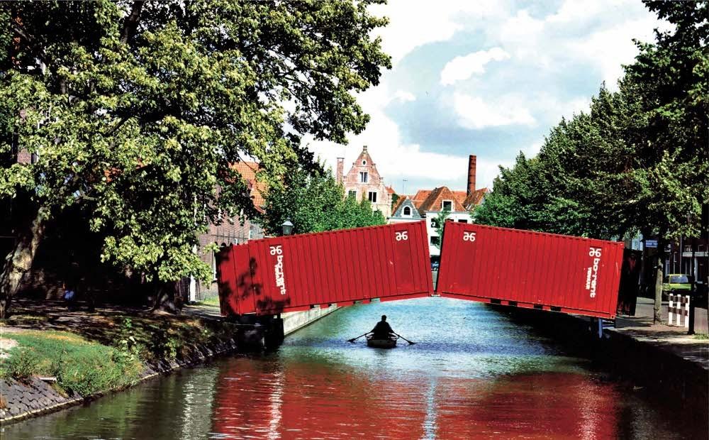 Resultado de imagem para shipping container used as bridge