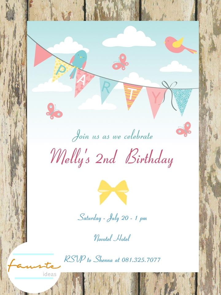 Invitation Stationery And Gift Undangan Ulang Tahun Custom Print
