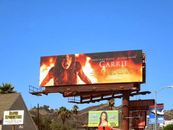 Chloe Grace Moretz Carrie movie remake billboard