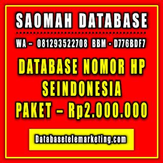 Jual Database Nomor Handphone Paket 6 - Rp2.000.000