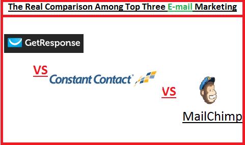 Get Response Vs Constant Contact, Get Response Vs MailChimp