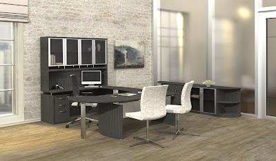 Napoli Charcoal Gray Executive Suite