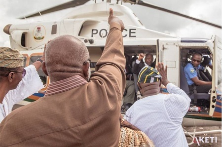 Ondo Election: Vice President Osinbajo Makes Stop-over in Akure to Greet Akeredolu (Photos)