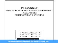 Perangkat Bimbingan Konseling SMP Kelas VII Format Doc