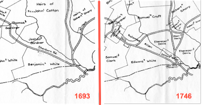 New Lane maps 1693 and 1746