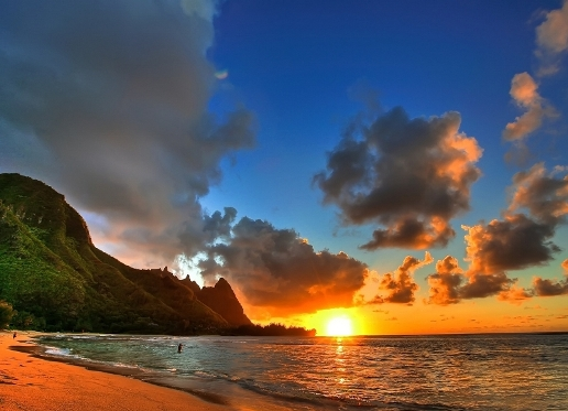 Sunset on Earth