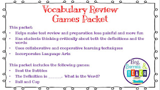 No-Tech Ways to Teach and Assess Vocabulary in Core Subjects: Review Games