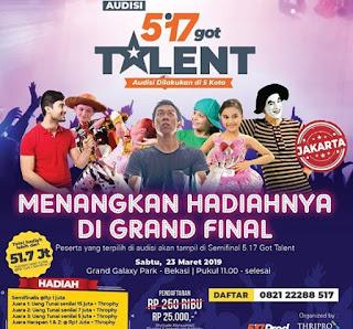 syarat-syarat pendaftaran ajang 5.17 got talent 2019