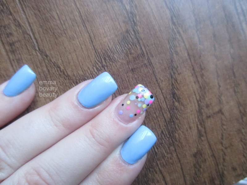 emmabovarybeauty: Confetti Manicure with I Scream Nails