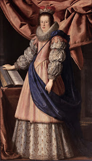 Lorenzo Lippi's portrait of  Claudia de' Medici, painted in around 1626