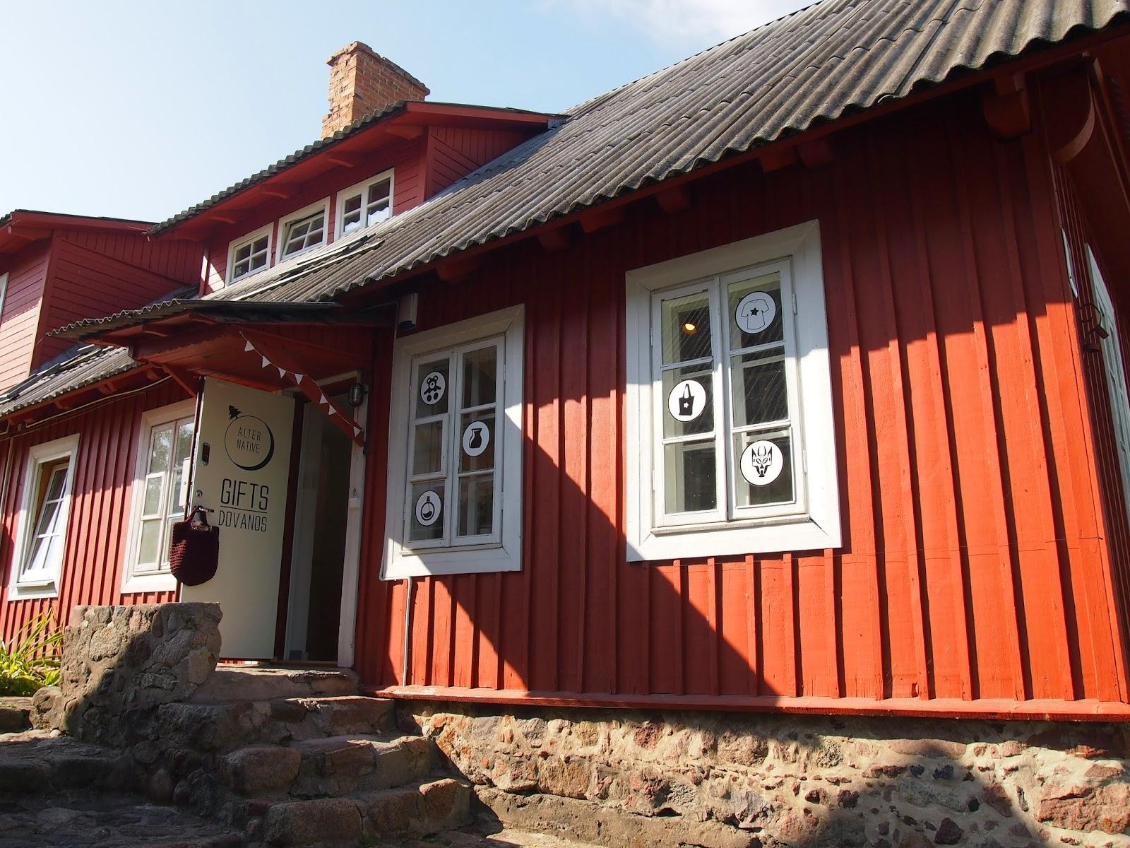 a gift shop in Trakai