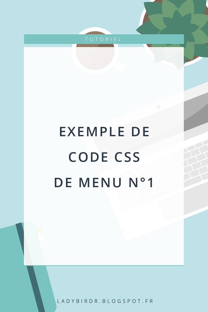 Exemple de code CSS de menu n°1