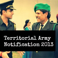 Territorial Army Notification 2013