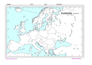 Europe outline map free download