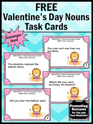 Valentine's Day Scavenger Hunt Game