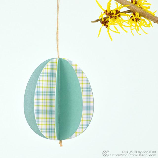 Easy 3D Easter Egg Ornaments