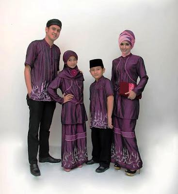 Baju muslim couple keluarga warna polos