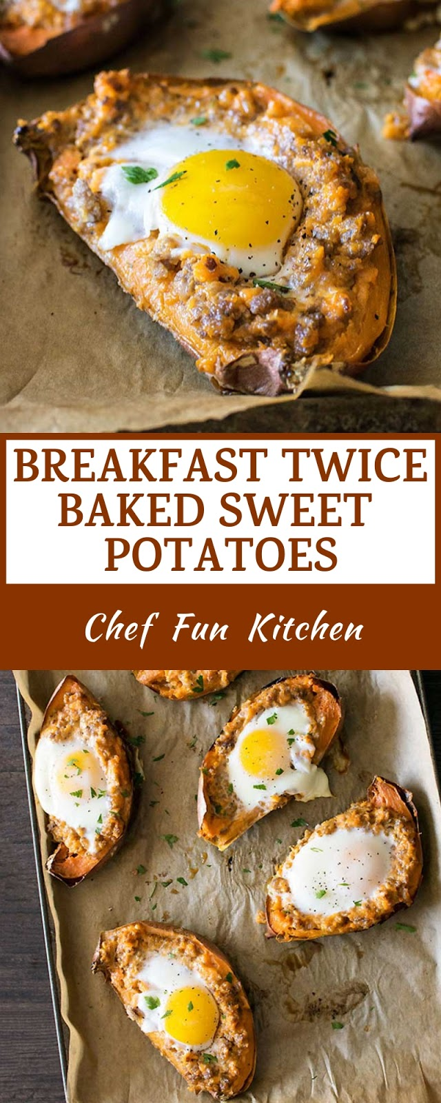 BREAKFAST TWICE BAKED SWEET POTATOES