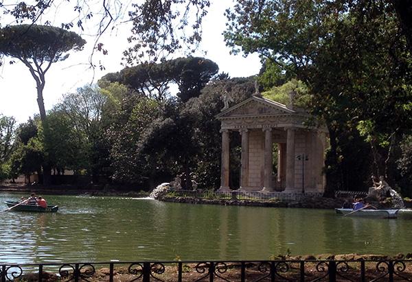 Giardini del lago, Villa Borghese