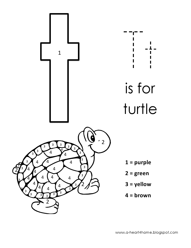 Kids Page Alphabet Letter T Lowercase Coloring Pages